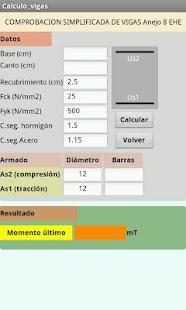 Vigas y pilares de hormigon: miniatura de captura de pantalla