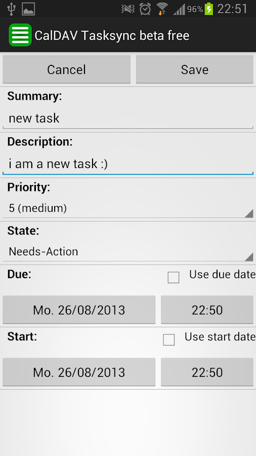 CalDAV Tasksync beta - screenshot