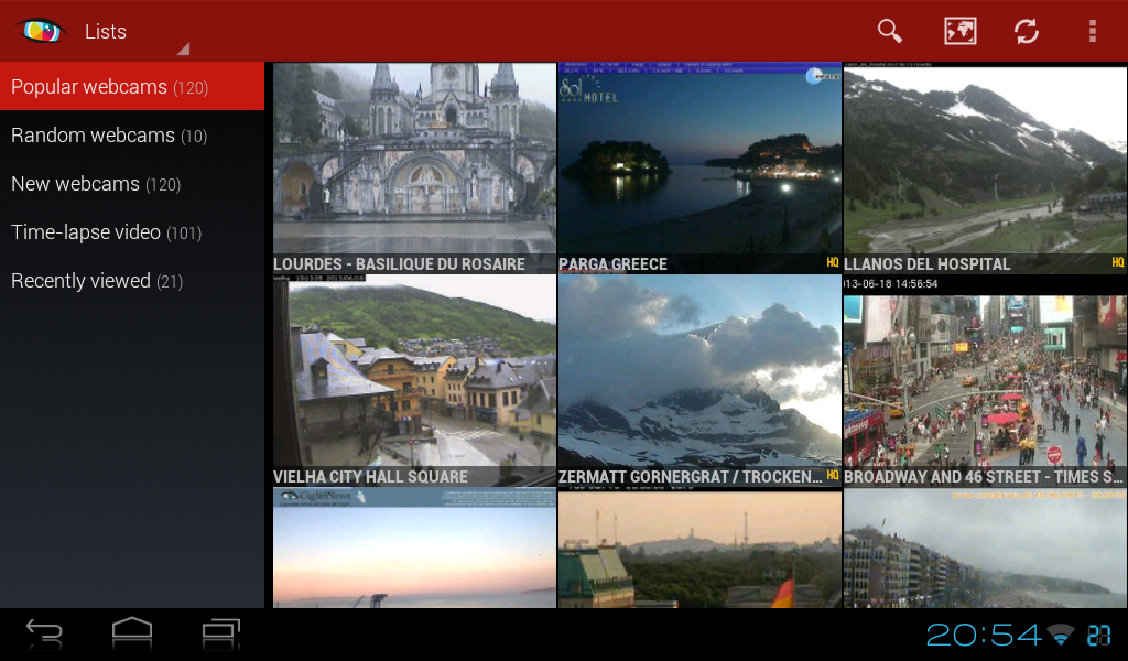 Worldscope Webcams- screenshot