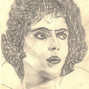 Tim Curry As Frank N. Furter by Angela Theresa Egic - Drawing All Drawing ( pencil, rocky horror, tim curry, drawing, franknfurter )