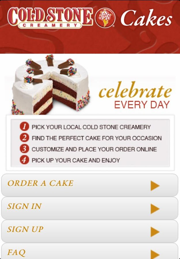 Cold Stone Cakes - screenshot