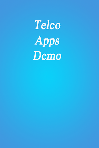 Telco Demo Apps