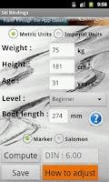Screenshot of Ski bindings