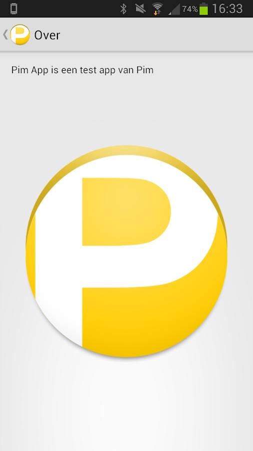 Pim App- screenshot