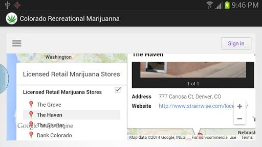 Colorado Marijuana Map Ad Free