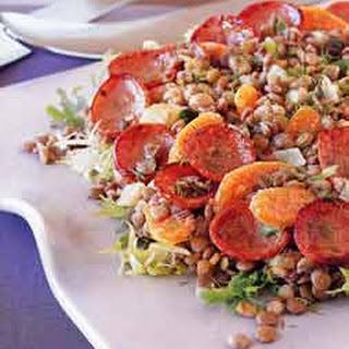 Kielbasa and Lentil Salad with Warm Mustard-Fennel Dressing