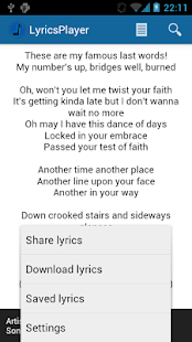 LyricsPlayer - screenshot thumbnail
