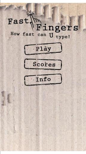 Fast Finger Game