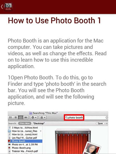 How to Use Photo Booth
