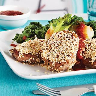 Sesame Pork Tenderloin with Apple Tamari Glaze