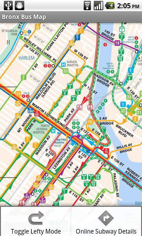NYC Bus & Subway Maps - screenshot