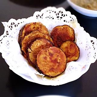 Cispy fried eggplant – Baingan Bhaja