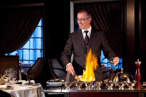 Celebrity_Eclipse_MuranoFlambe - Hot one coming your way — if you order a flambé while dining on board Celebrity Eclipse.