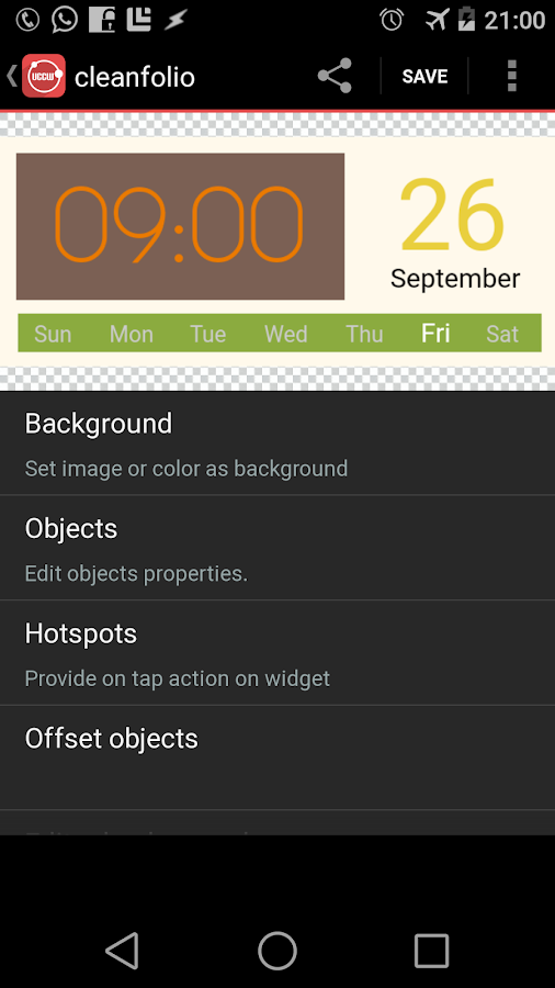 UCCW - Ultimate custom widget - screenshot