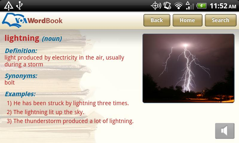 VoA Mobile Wordbook - screenshot
