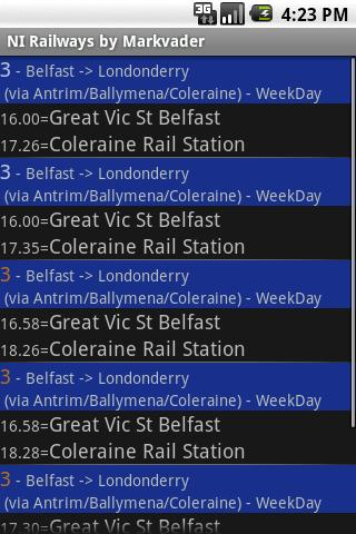 Northern Ireland Railways - screenshot