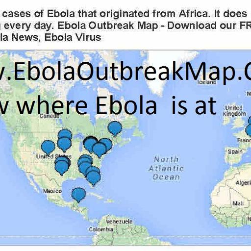 Ebola Outbreak Map Tracker App