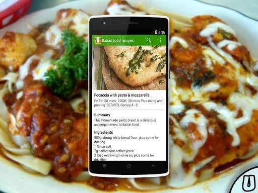 【免費生活App】Italian food recipes-APP點子