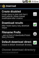 Screenshot of Pocket Query Creator
