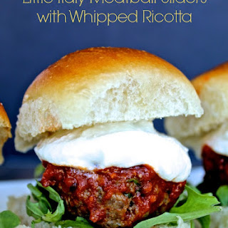 Little Italy Meatball Sliders with Whipped Ricotta.