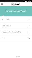 Screenshot of Upinion