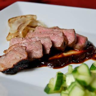 NY Strip Steak w/ Hoisin Steak Sauce.