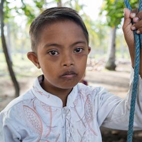 disabled balinese child by Mitchell Oates - Babies & Children Child Portraits ( child, bali, village, photojournalism, beautiful, travel, portrait, asian, photooftheday )