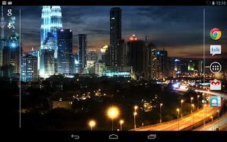 Screenshot of City at Night Live Wallpaper