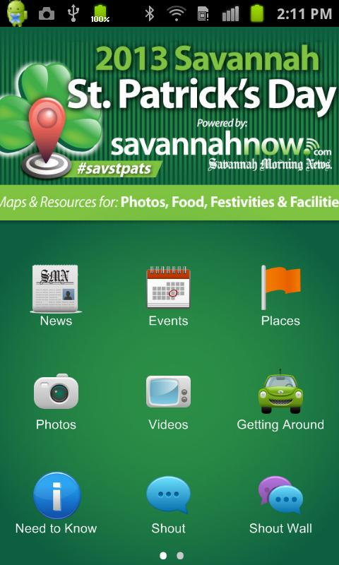 SavannahNow St. Patrick's App - screenshot