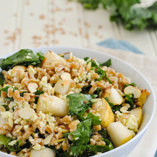 Farro & Kale Salad with Honey-Mustard Dressing.