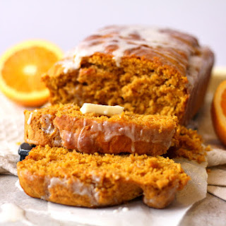 Vanilla Glazed Pumpkin Cider Sweet Bread.