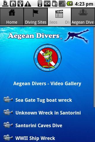 Aegean Divers - Santorini- screenshot