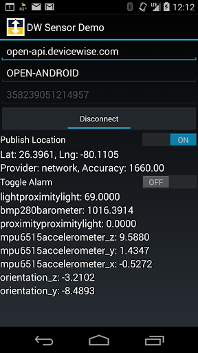 deviceWISE IoT Sensor Monitor
