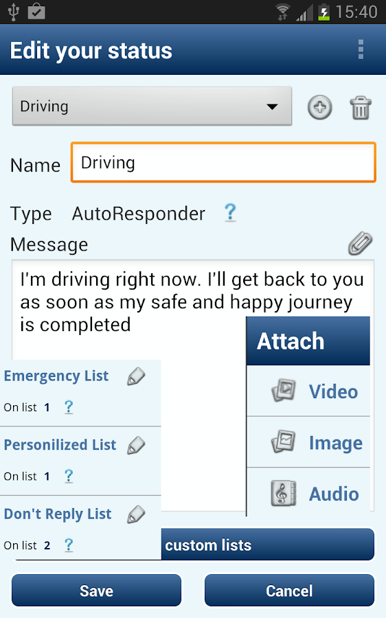 Autoresponder + SMS Scheduler - screenshot