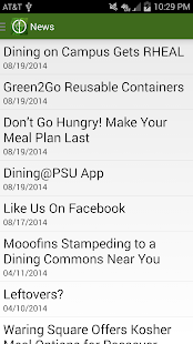 Dining@PSU- screenshot thumbnail