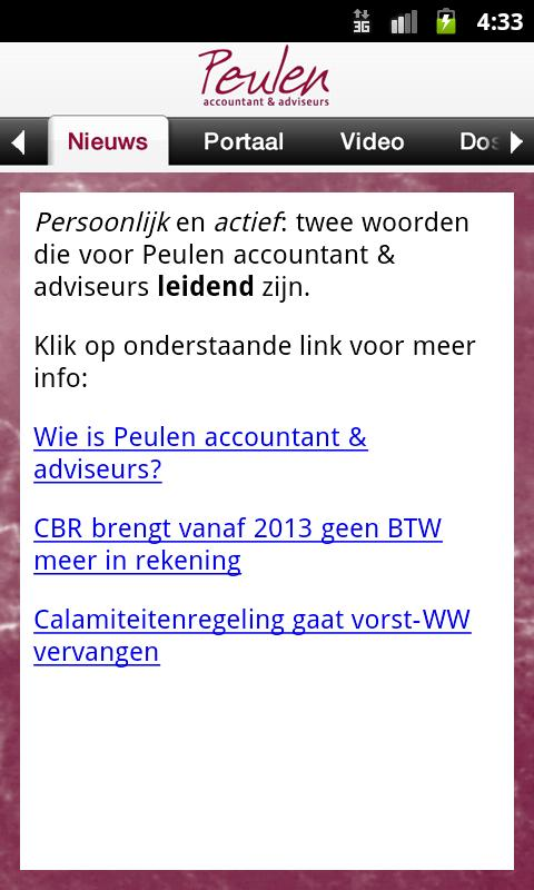 Peulen accountants en adviseur - screenshot