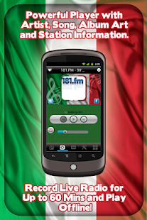 Italy Radio - With Recording - screenshot thumbnail