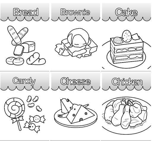 Kids Coloring Food