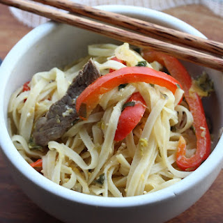Spicy Speedy Beef and Lime Noodles