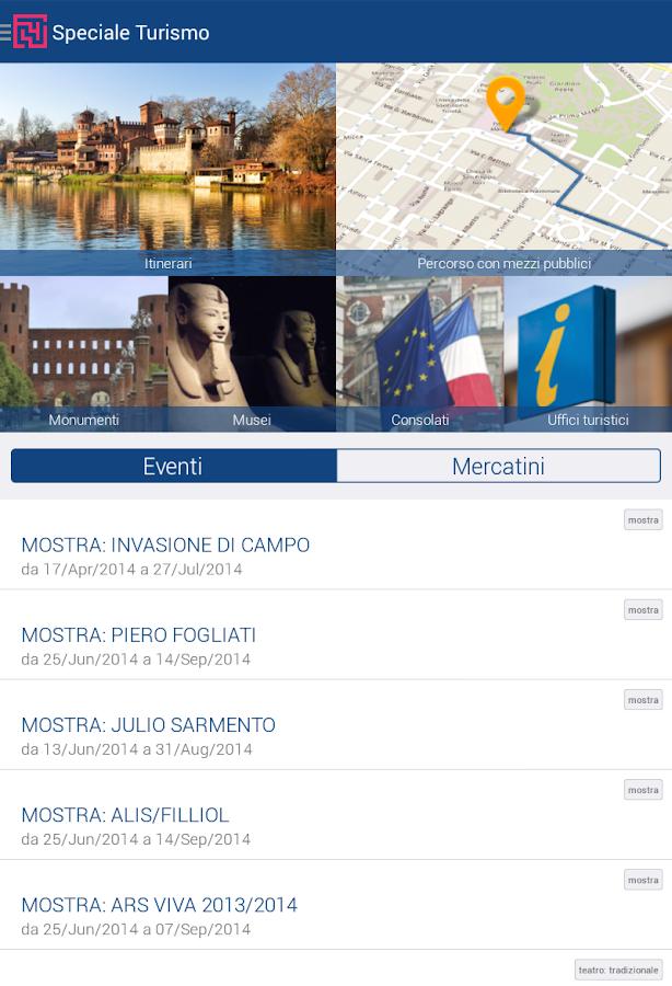 Torino App- screenshot