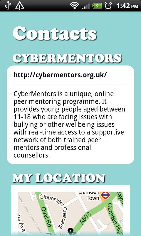 CyberMentors- screenshot