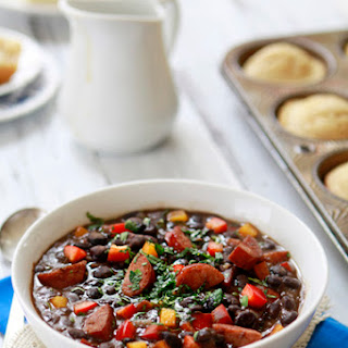 Smoky Black Bean Soup with Andouille Sausage