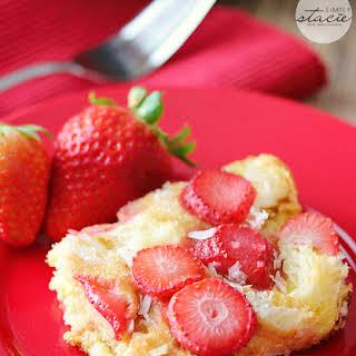 Strawberry & Coconut Breakfast Casserole.