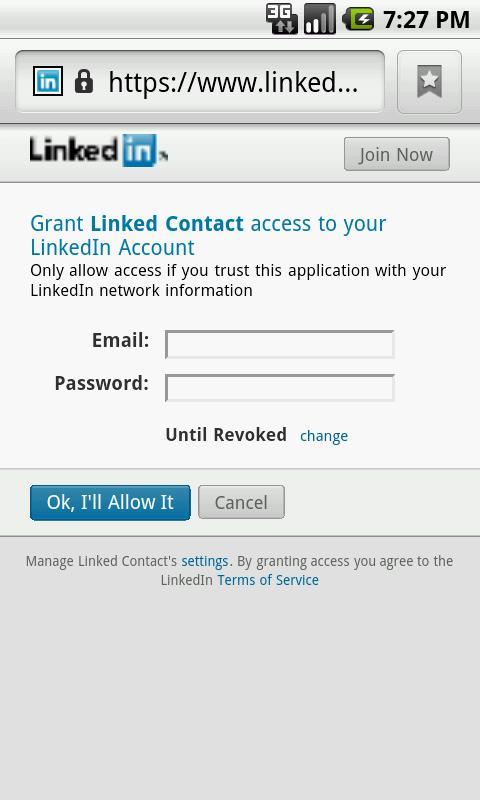 Linked Contact- screenshot