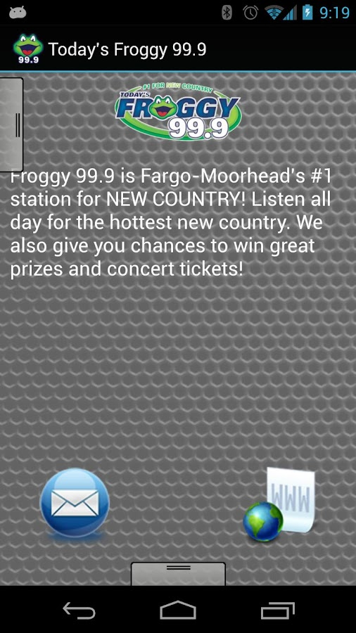 Today's Froggy 99.9 - screenshot