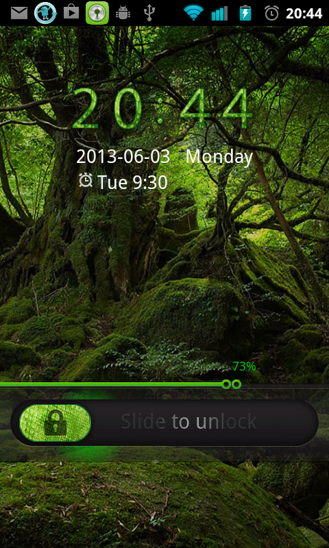 Deep Forest Go Locker theme - screenshot