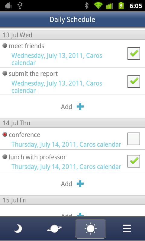 Caros Calendar(Events,Plan) - screenshot
