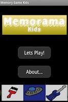 Screenshot of Memory Game Kids