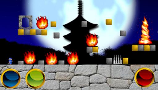 脱出忍者(マリオ風のクラッシックアクションゲーム)