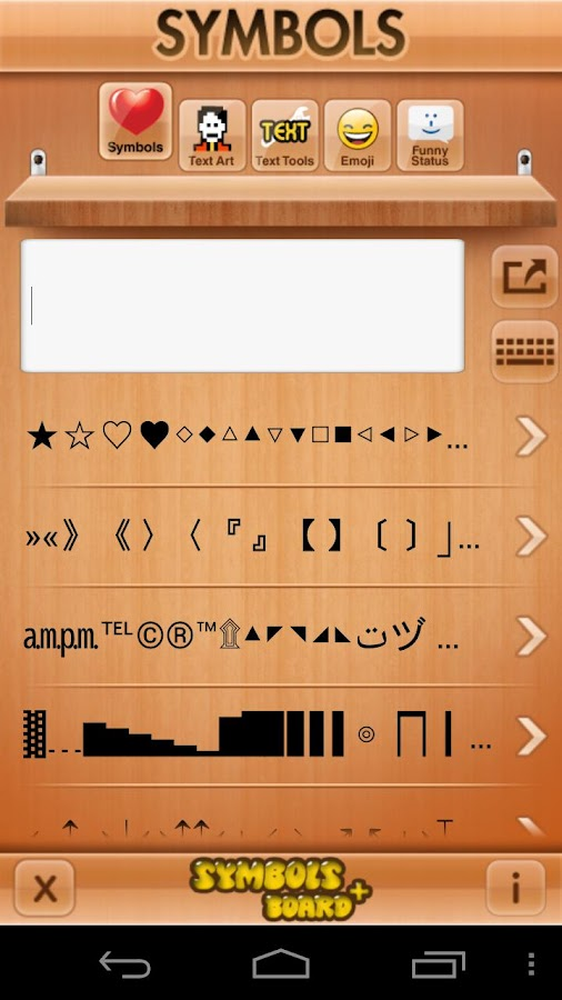 Symbols Board + EMOJI PREMIUM - screenshot